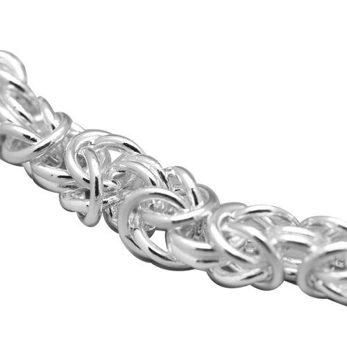 Sterling Silver Byzantine Bracelet (Size 8), Silver wt 17.20 Gms.