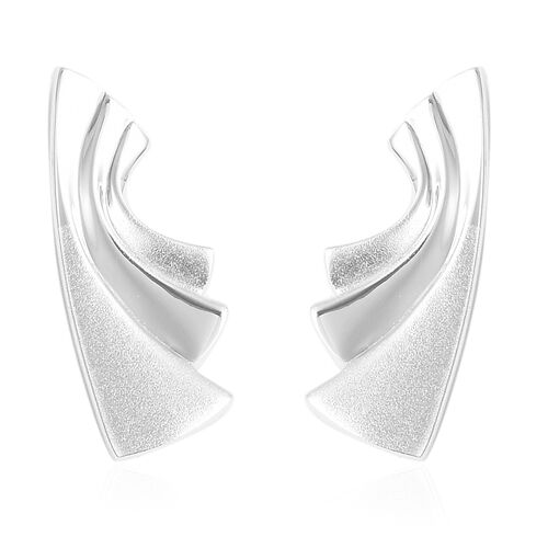Sandblast Texture Collection RACHEL GALLEY Stud Earrings in Rhodium Plated Silver