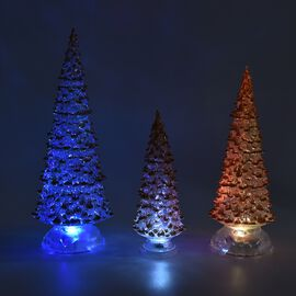 Monster Deal - Set of 3  - Decorative Multicolour Light Changing Tree with Three Different Sizes - G