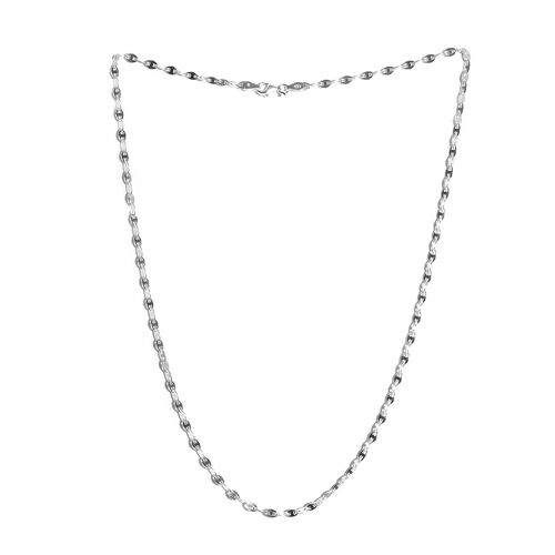 Vicenza Collection Sterling Silver Mariner Necklace (Size 20), Silver wt 6.01 Gms.