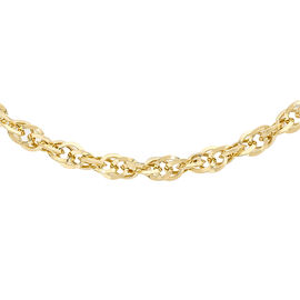 Italian Made - 9K Yellow Gold Prince of Wales Necklace (Size 18), Gold wt 3.70 Gms.