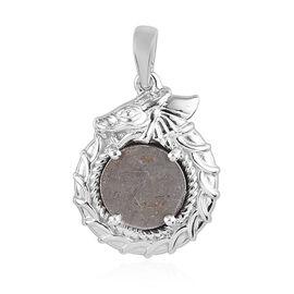 Meteorite Pendant in Platinum Overlay Sterling Silver 6.75 Ct.