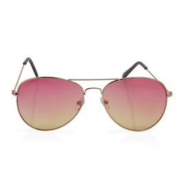 Aviator Sunglasses - Pink and Yellow