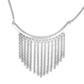 Lucy Q Rhodium Overlay Sterling Silver Necklace (Size 16 with 4 inch Extender), Silver wt 11.70 Gms