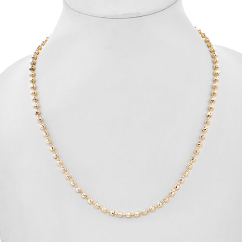 Surabaya Collection-9K Yellow Gold Diamond Cut Necklace (Size 18), Gold wt 12.70 Gms