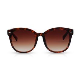 Designer Inspired Cat Eye Wayfarer Style Sunglasses - Brown