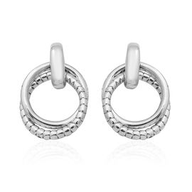 Sterling Silver Multi Layer Circle Hoop Earrings, Silver wt. 6.50 Gms