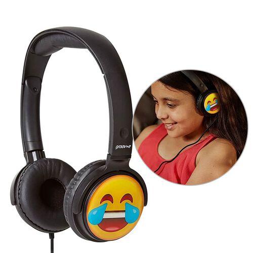 Groov-e EarMOJIs Stereo Headphones - Laughing Face