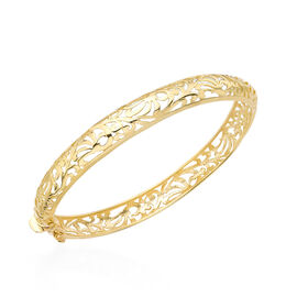Hatton Garden Close Out 9K Yellow Gold Bangle (Size 7.25), Gold wt 10.90 Gms