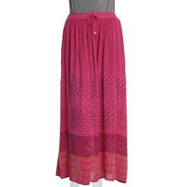 Pink Colour One Size Skirt (Size 100x76 Cm)