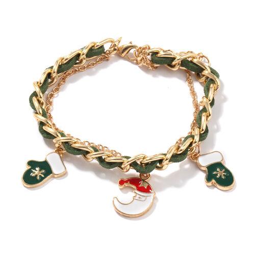 Set of 3 - Multi Charm Enamelled Bracelet (Size 7 with 2 inch Extender)