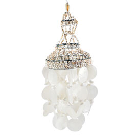 Option-2 Bali Collection - White Seashell Decorative Wind Chime (Size 50x15 Cm)