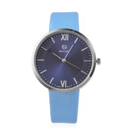 STRADA Japanese Movement Water Resistant Navy Blue Colour Sunshine Dial Watch with Blue Strap