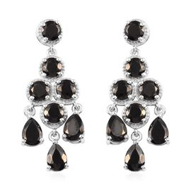 6 Carat Elite Shungite Chandelier Earring in Platinum Plated Sterling Silver