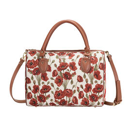 Signare Tapestry - Poppy Travel Bag with Strap (Size 38x27x20 Cm)