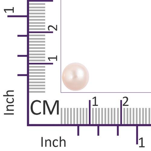ILIANA 18K White Gold Very Rare AAA Edison Pearl (Rnd 14-15mm) Ball Stud Earrings (with Screw Back)