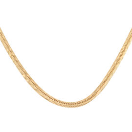 Closeout Deal -9K Yellow Gold Triple Link Necklace (Size 20), Gold wt 11.60 Gms
