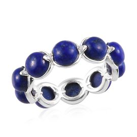 Lapis Lazuli Ring in Sterling Silver 6.14 Ct.