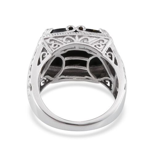Goldenite (Cush) Solitaire Ring in Platinum Overlay Sterling Silver 6.250 Ct.