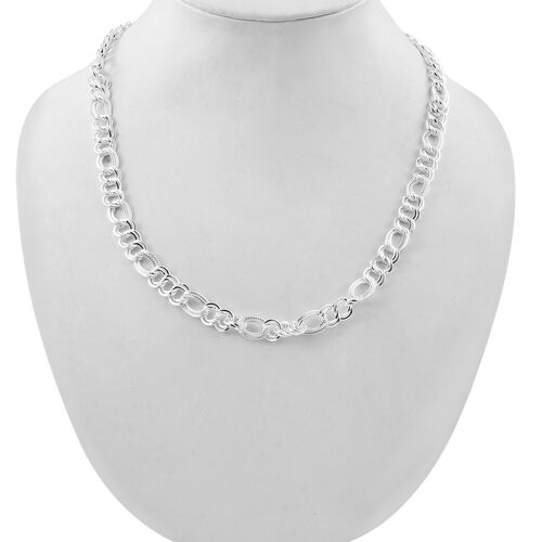 Limited Edition- Vicenza Collection- Sterling Silver Figaro Necklace (Size 20), Silver wt 38.06 Gms.