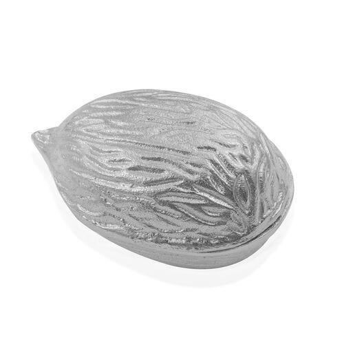 Home Decor - Set of 3 Silver Almond (Size 10.7x6.9x6.35 Cm), Peanut (10.7x5x5 Cm) and Walnut (Size 10.7x6.9x6.35 Cm)