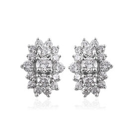 RHAPSODY 950 Platinum IGI Certified Diamond (Rnd) (VS/E-F)  Earrings (with Screw Back) 1.000 Ct.