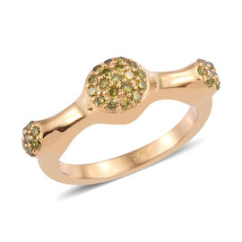 Yellow Diamond (Rnd) Ring in 14K Gold Overlay Sterling Silver 0.330  Ct.