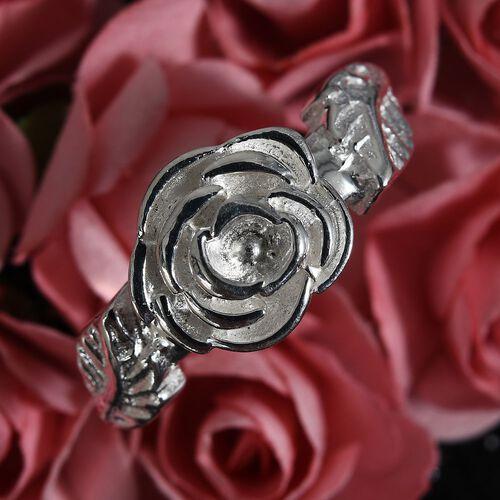 Sterling Silver Rose Leaf Ring, Silver wt 4.02 Gms