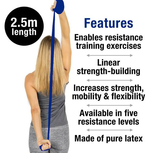 Thera-band Exercise Band in zipper Bag (2.5m) - Blue
