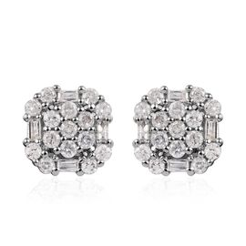 Diamond 9K W Gold Earring  0.500  Ct.