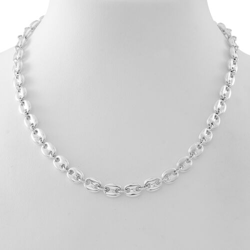 Italian Made - Designer Inspired Anchor Link Necklace (Size 20 with Extender) in Sterling Silver Wt. 30.01 Gms.