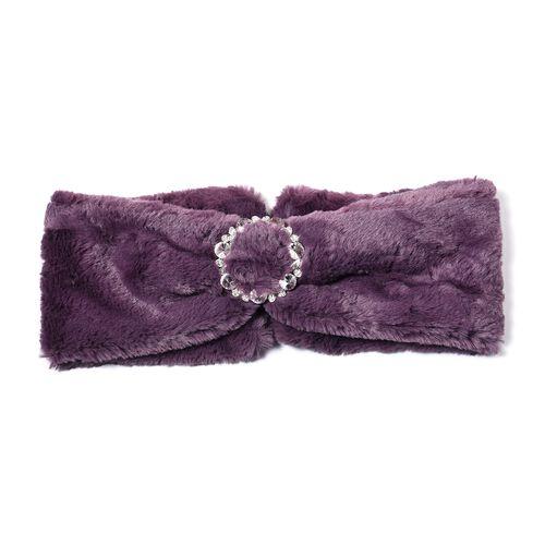 Bowknot Design Faux Fur Headband (Size 10x55 Cm) - Purple