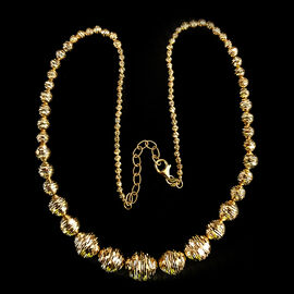 9K Yellow Gold Graduated Beads Necklace (Size 18 with 2 inch Extender), Gold wt 16.47 Gms.