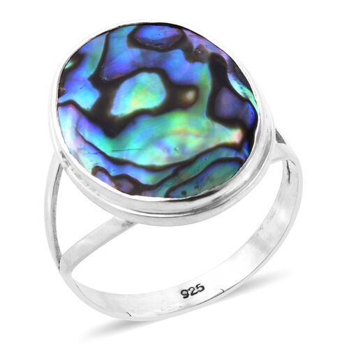 Royal Bali Collection Abalone Shell (Ovl) Ring in Sterling Silver