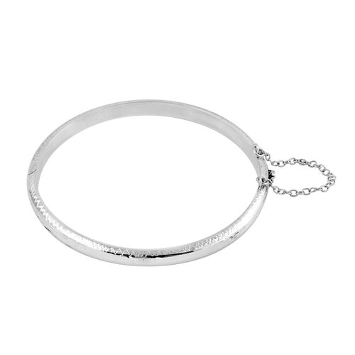 Sterling Silver Wave Bangle (Size 7.5), Silver wt 7.85 Gms