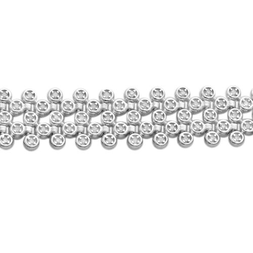 Limited Edition- Premium Collection- Diamond Bracelet (Size 7.5) in Platinum Overlay Sterling Silver   1.000 Ct, Silver wt 18.18 Gms, Number of Diamonds 195.