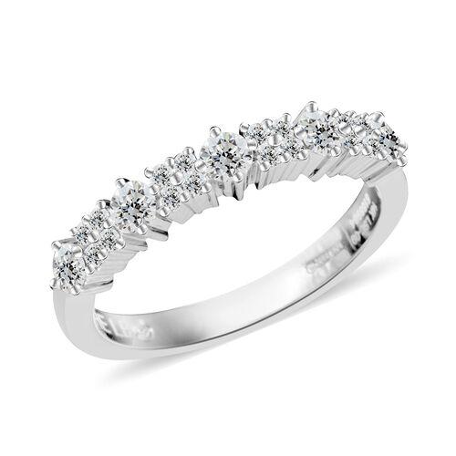 14K White Gold GSI CERTIFIED Diamond Ring 0.500 Ct.