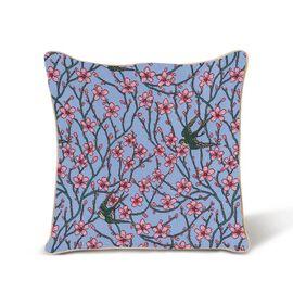 Signare Walter Crane - Almond Blosson and Swallow Pattern Cushion Cover (45x45 cm)