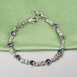 J Francis Crystal From Swarovski - Tanzanite Crystal Bracelet (Size - 7.5)