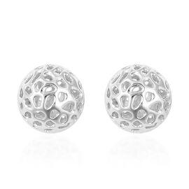 RACHEL GALLEY Ball Stud Earrings in Rhodium Plated Sterling Silver