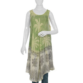 Palm Tree Pattern Apparel (Size 133x117 Cm) - Green