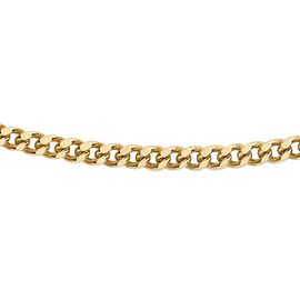 9K Yellow Gold Diamond Cut Curb Chain (Size 16), Gold wt 2.10 Gms