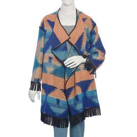 Blue and Orange Colour Cardigan (Size 75x50 Cm)
