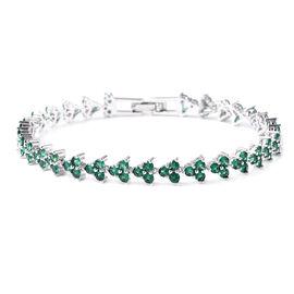 6.02 Ct Green Cubic Zircon Tennis Bracelet 7 Inch