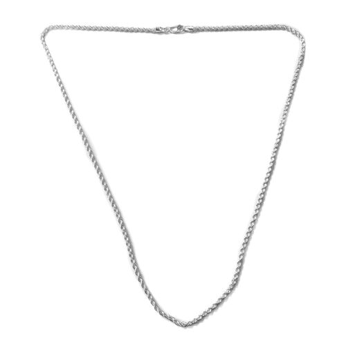 JCK Vegas Collection - Rhodium Plated Sterling Silver Rope Chain (Size 24), Silver wt. 12.50 Gms.
