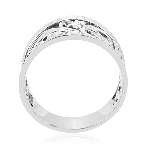 Royal Bali Collection- Fliligree Ring in Sterling Silver, Silver wt 5.46 Gms.
