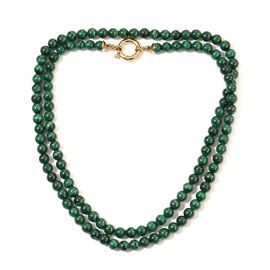 Sundays Child - SPECIAL ORDER - Malachite Beaded Necklace (Size 30) in Yellow Gold Vermeil Sterling