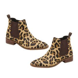 Ravel Leopard-Print Gisborne Leather Slip-On Ankle Boots