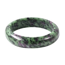 Exclusive Edition Natural Extremely Rare AAA Ruby Zoisite Bangle 7.5 Inch