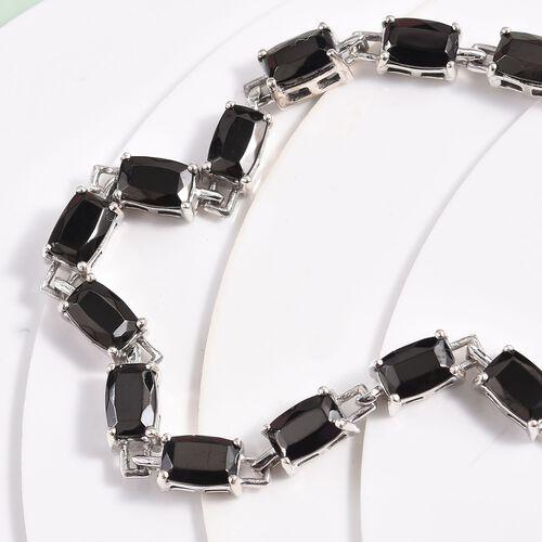 Elite Shungite Bracelet (Size 7.5) in Platinum Overlay Sterling Silver 6.25 Ct, Silver wt 9.04 Gms